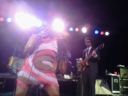 Sharon Jones from the front row at Sodo in Seattle.